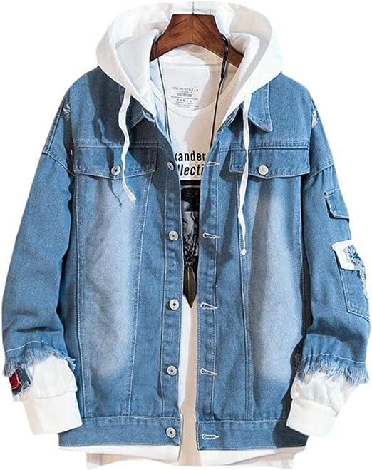 [ShuMing]デニムジャケット メンズ フード付き パーカー 長袖 ゆったり ジージャン カジュアル ストリート系 ジャケット 春 おしゃれ Gジャン 大きいサイズ アウター