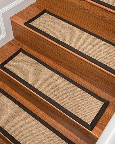 NaturalAreaRugs Montreal Sisal Carpet Stair Treads, 100% Natural Sisal, 9-inch x 29-inch (Set of 13)