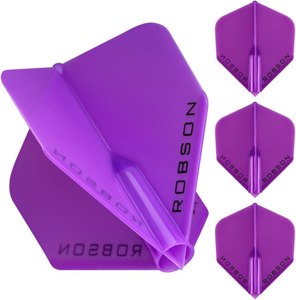 1 Set Standard Violet Robson Plus Strong Moulded Flights