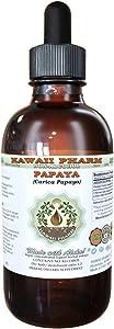 Papaya Alcohol-Free Liquid Extract, Organic Papaya (Carica Papaya) Dried Leaf Glycerite 4 oz