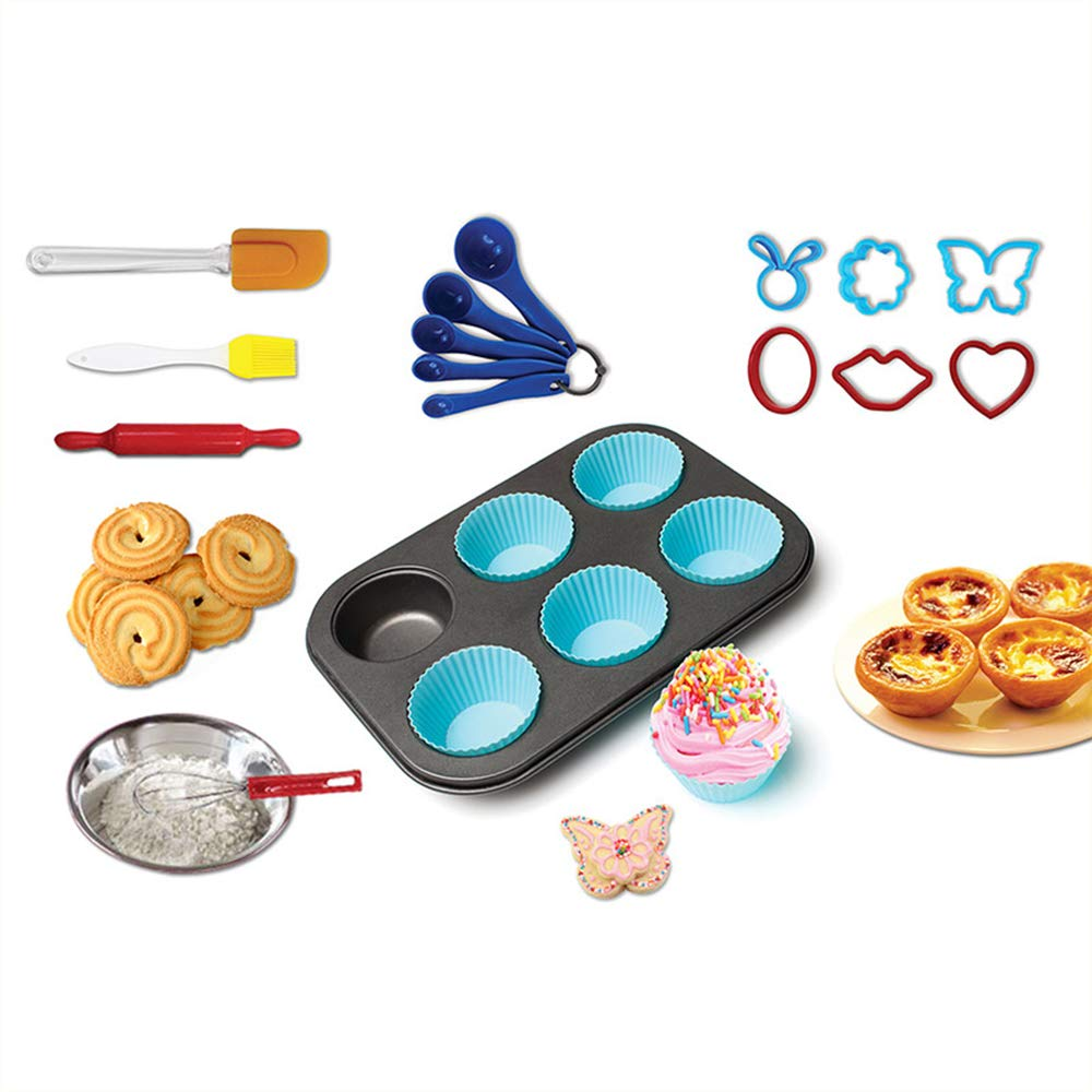 16 Pcs Deluxe Kitchen Baking Starter Kit For Kids /& Beginners