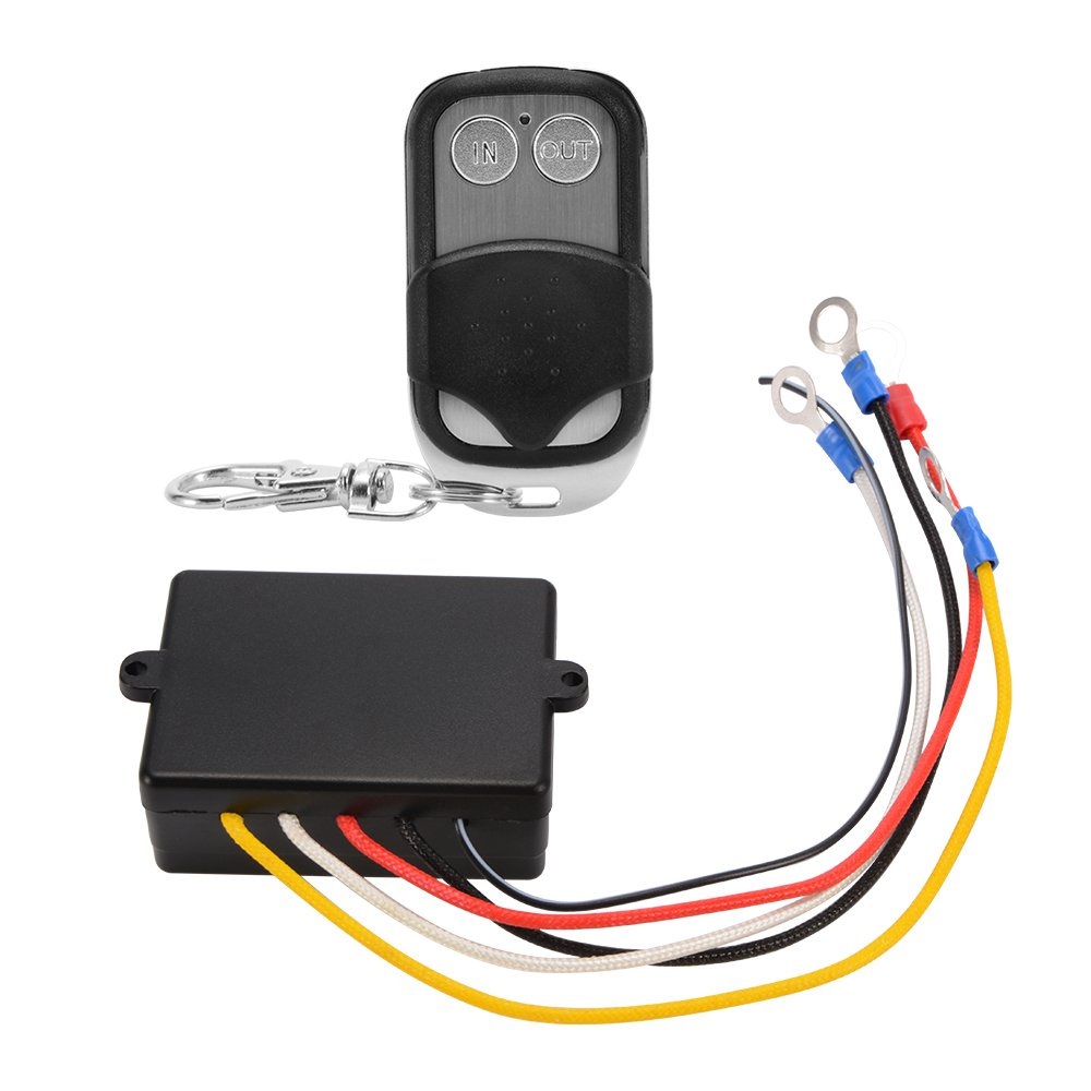 XCSOURCE 12V Wireless Electric Winch Remote Control Receiver Switch Keyfob Kit for Vehicle Truck Auto Car MA1614