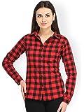DAMEN MODE Women's Cotton Check Shirt