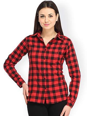 28641c39f10 DAMEN MODE Women's Cotton Check Shirt