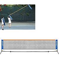 SqSYqz 3.1M Universal Portátil Recreativo Voleibol Fútbol Pickleball Tenis Badminton Red, Soporte del Marco Metálico Y…