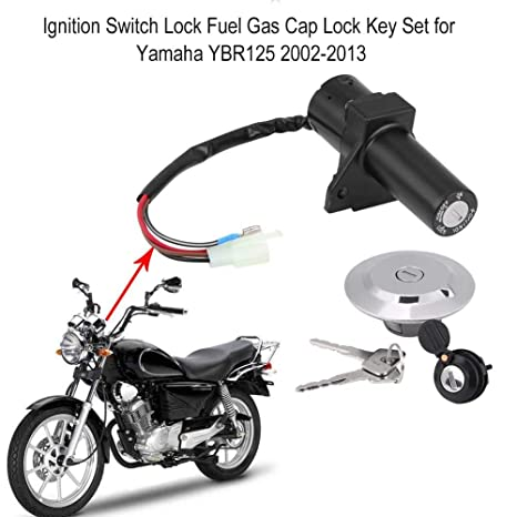 435498a80fe6 AjaxStore - Motorcycle Scooter Ignition Switch Lock Fuel Gas Cap ...