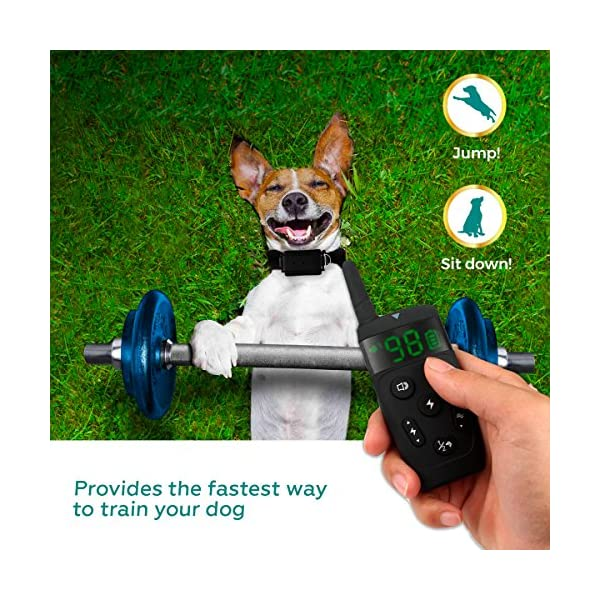 [Upgraded 2020] Dog Training Collar with Remote - Shock Collar for Dogs Range 1600 feet, Vibration Control, Rechargeable Bark E-Collar - IPX7 Waterproof for Small, Medium, Large Dogs, All Breeds 5