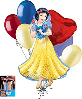 Disney Princess Snow White Balloon Bouquet  sc 1 st  Amazon.com & Amazon.com: Snow White and the Seven Dwarfs Small Paper Plates (8ct ...