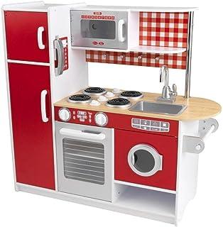 kidkraft 53156 - rote retro-küche: amazon.de: spielzeug - Kidkraft Weiße Retro Küche 53208