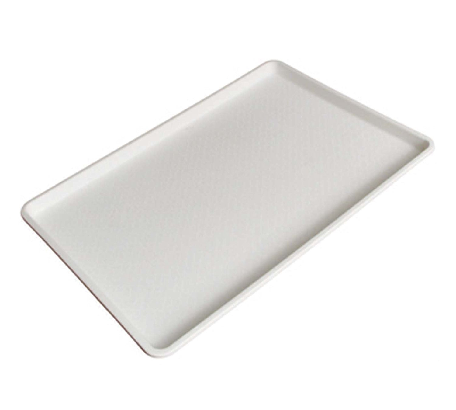 18 by 26 Inch Winco Plastic Tray White, Set of 6