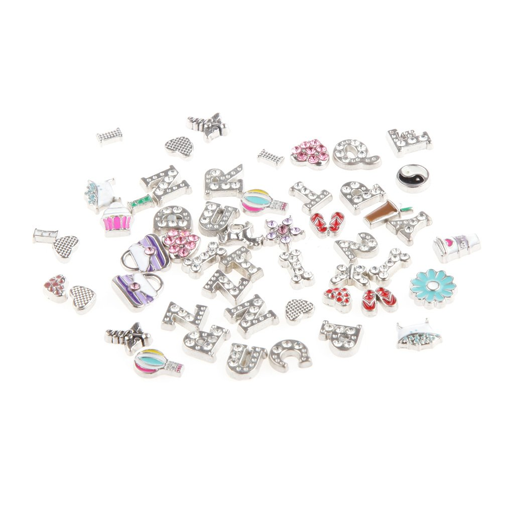 50pcs Floating Charms Locket for Glass Living Memory Necklace Bracelets Generic STK0156011618