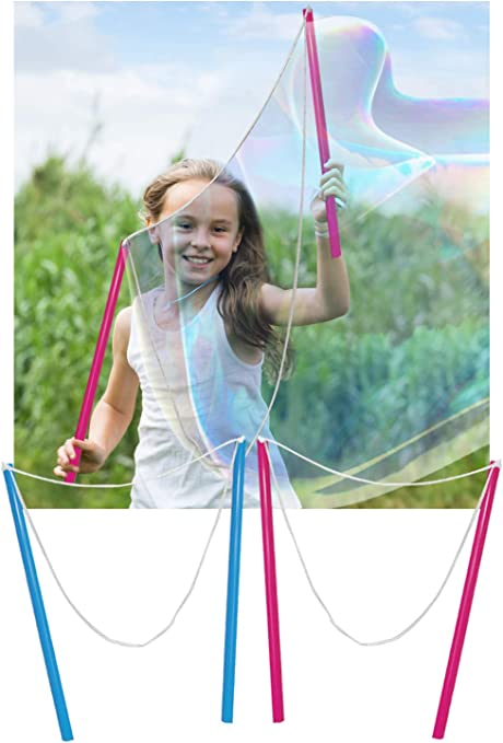 Large Bubble Maker Wands Children Kids Outdoor Summer Toy Fun Birthday Toy