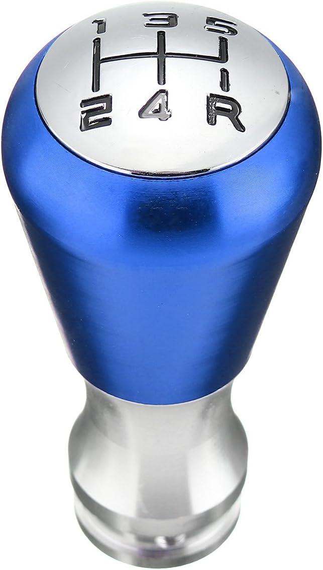 Viviance Universal 3 Farben 5 Gang Schaltknauf Für Manuelle Aluminiumlegierung Mit 4 Adaptern 8 Mm 10 Mm 11 5 Mm 12 Mm Schalthebel Für Die Meisten Autos Mit 5 Gang Schaltgetriebe Blau Auto