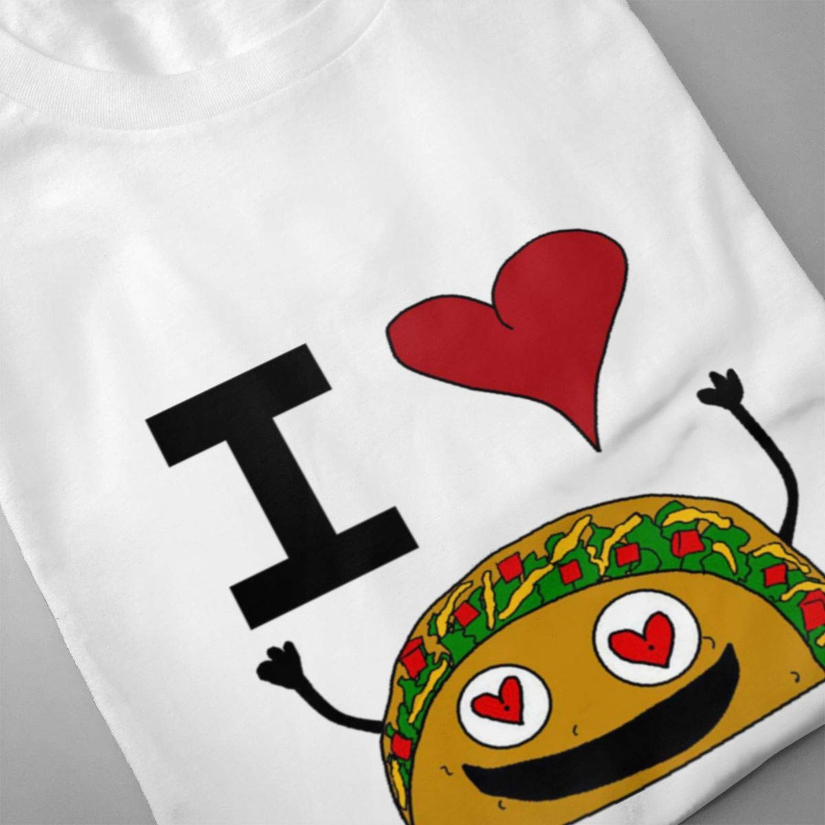Luxendary Men Logo I Love Taco Fashion Hiking Round Neck Short Sleeve Tee