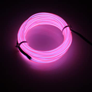 Lerway 5M EL Wire Fil Neon Flexible Lumiere LED Cable Guirlande
