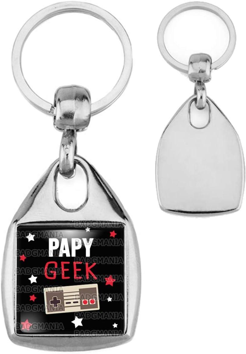 Porte Cl/és Carr/é Acier Papy Geek Humour Id/ée Cadeau Homme Grands Parents Anniversaire F/ête