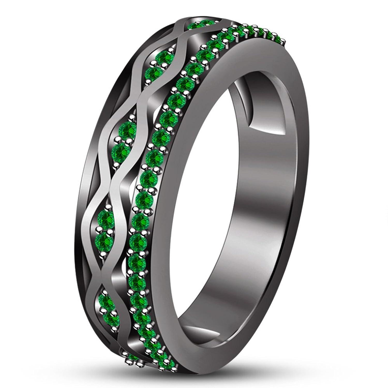 071cedf733f6 Moda Vorra negro sólido 925 plata de ley chapado en rodio hombres de banda  anillo de