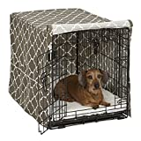 Midwest Homes for Pets CVR30T-BR Dog Crate Cover with Fabric Protector, Medium, Brown Geometric Pattern