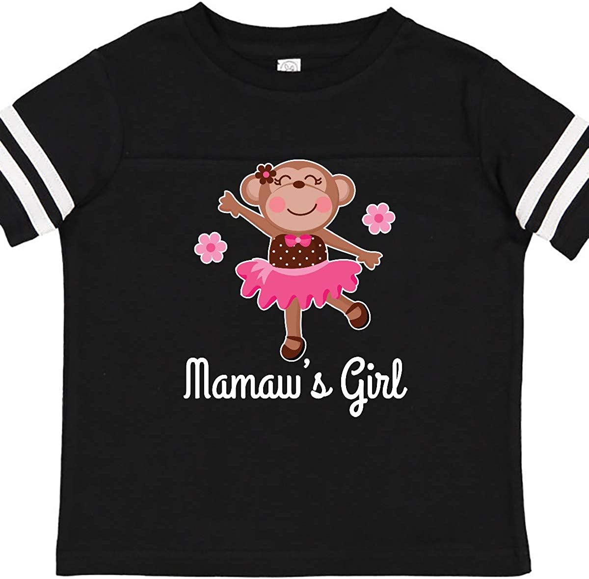 inktastic Mamaws Girl Ballerina Monkey Toddler T-Shirt