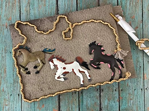 Western Theme Horses Guest Book and Pen for Birthday Wedding Sweet -
