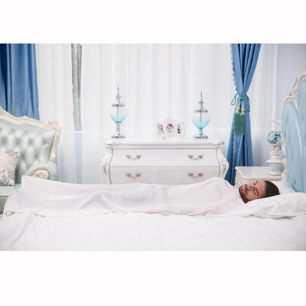 Natural Seide Schlafsack Liner Reisen Tabelle Sleep Sack mit integriertem Kopfkissenbezug ALASKA BEAR