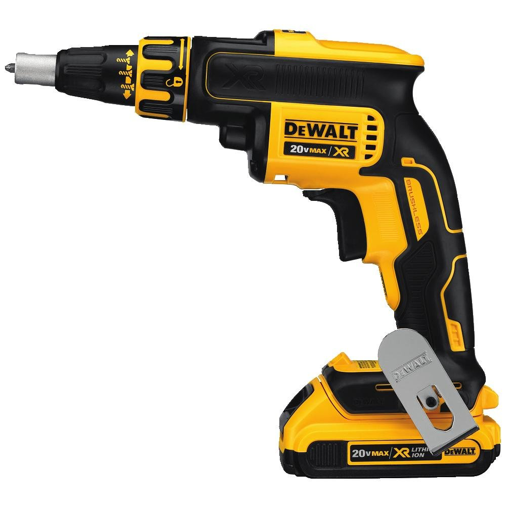 DEWALT DCF620D2 2.0AH 20-volt MAX XR Li-Ion Brushless Drywall ScrewGun with DEWALT DW2002B25 2 Phillips Bit Tip 25-Pack