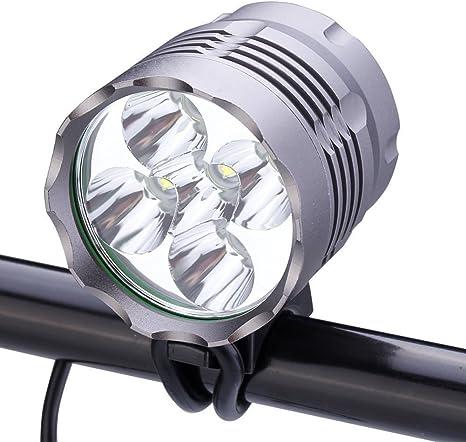 YOZATIA - Linterna LED Frontal para Bicicleta, 5 Luces Cree, 8000 ...