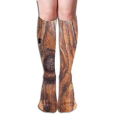 Amazon.com: Calcetines deportivos de madera para mujer y ...