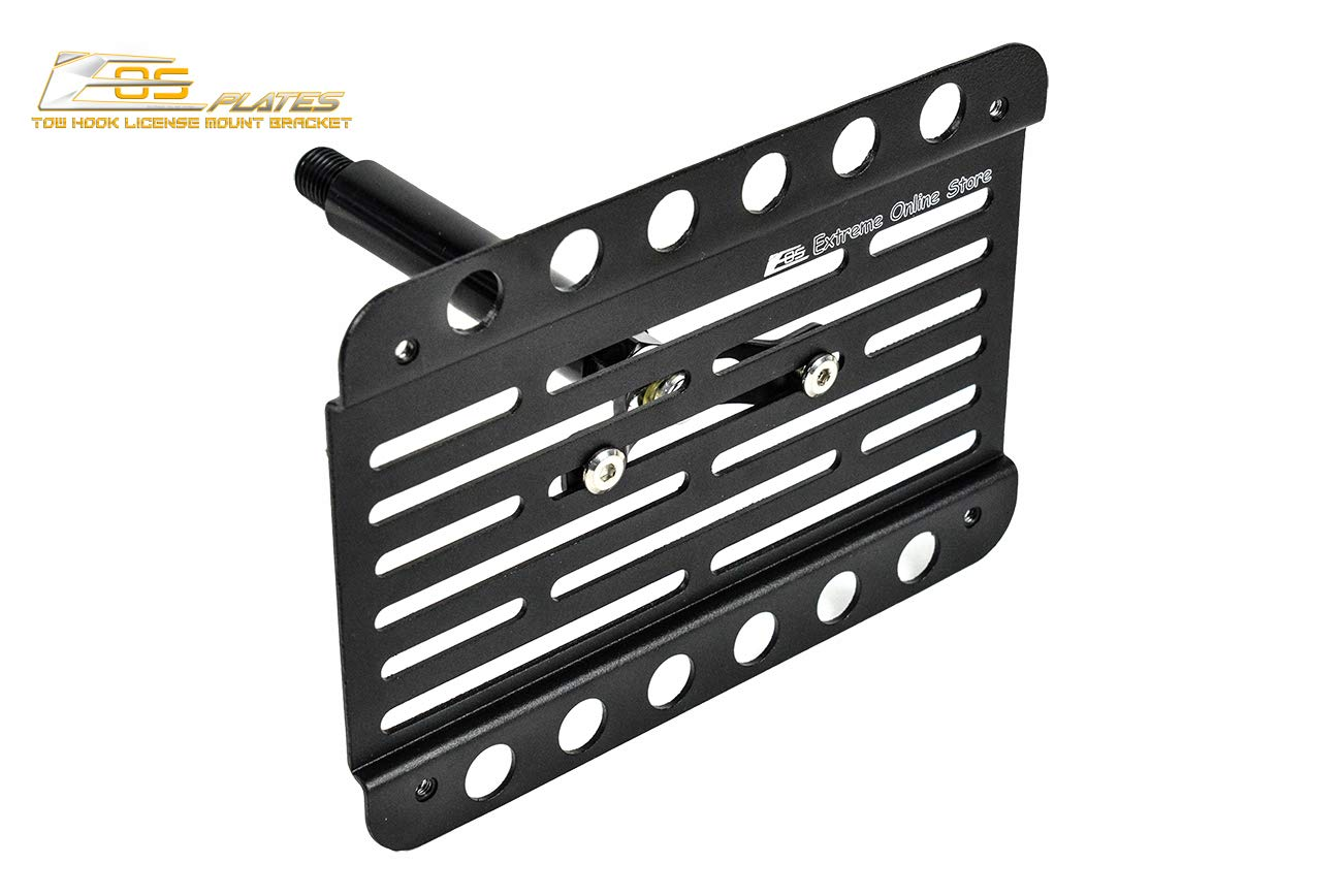EOS Version 1 Mid Sized Front Bumper Tow Hook License Plate Relocator Mount Bracket for 02-Up Volkswagen Touareg