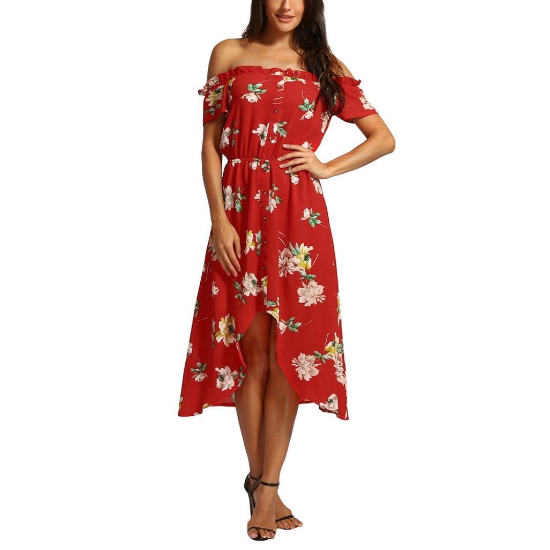 2018 Summer Off hombro colorido vestido largo casual impreso, Slash cuello Bohemia estilo vestidos de moda para mujeres chica