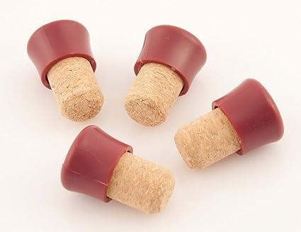 Fackelmann 4 Corcho y plástico Tapones de Botellas