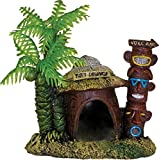 Blue Ribbon 006062 Exotic Environments Betta Hut with Palm Tree