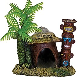 006062 Exotic Environments Betta Hut with Palm Tree