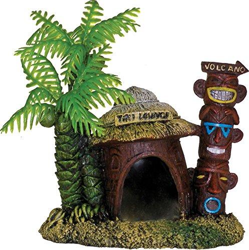 Shell Coconut Half (Blue Ribbon 006062 Exotic Environments Betta Hut with Palm Tree)