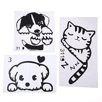 3 Stuck Schalter Aufkleber Wandtattoos Katzen Und Hunde Deoksticker Wasserdichtes Wiederablosbar Fur Wohnzimmer Schlafzimmer Lichtschalter