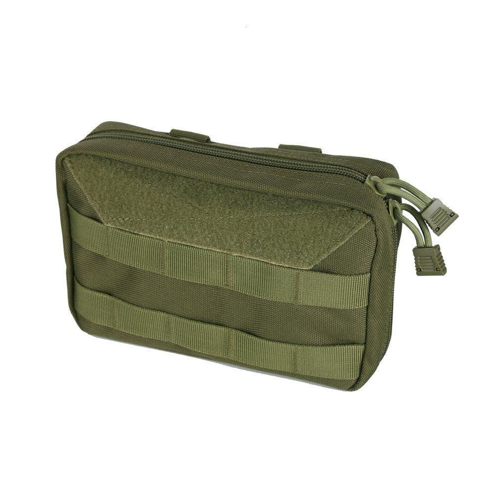 Leezo EDC Bolsa de Almacenamiento de Primeros Auxilios Nailon 1000D, Impermeable, multicapas, para Camping, mapas, Herramientas de Emergencia