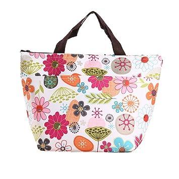 Cosanter Lunch Tasche Bunte Blumen Muster Isolationsbeutel Picknicktasche zum Lebensmitteltransport Geeignet f/ür Arbeit//Schule//Picknick//Outdoor//Camping