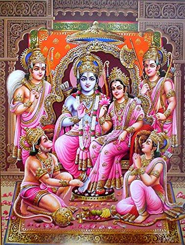 MAHALAXMI ART Generic Gods Ram Darbar On Fine Art Paper HD Wallpaper Poster 13x19