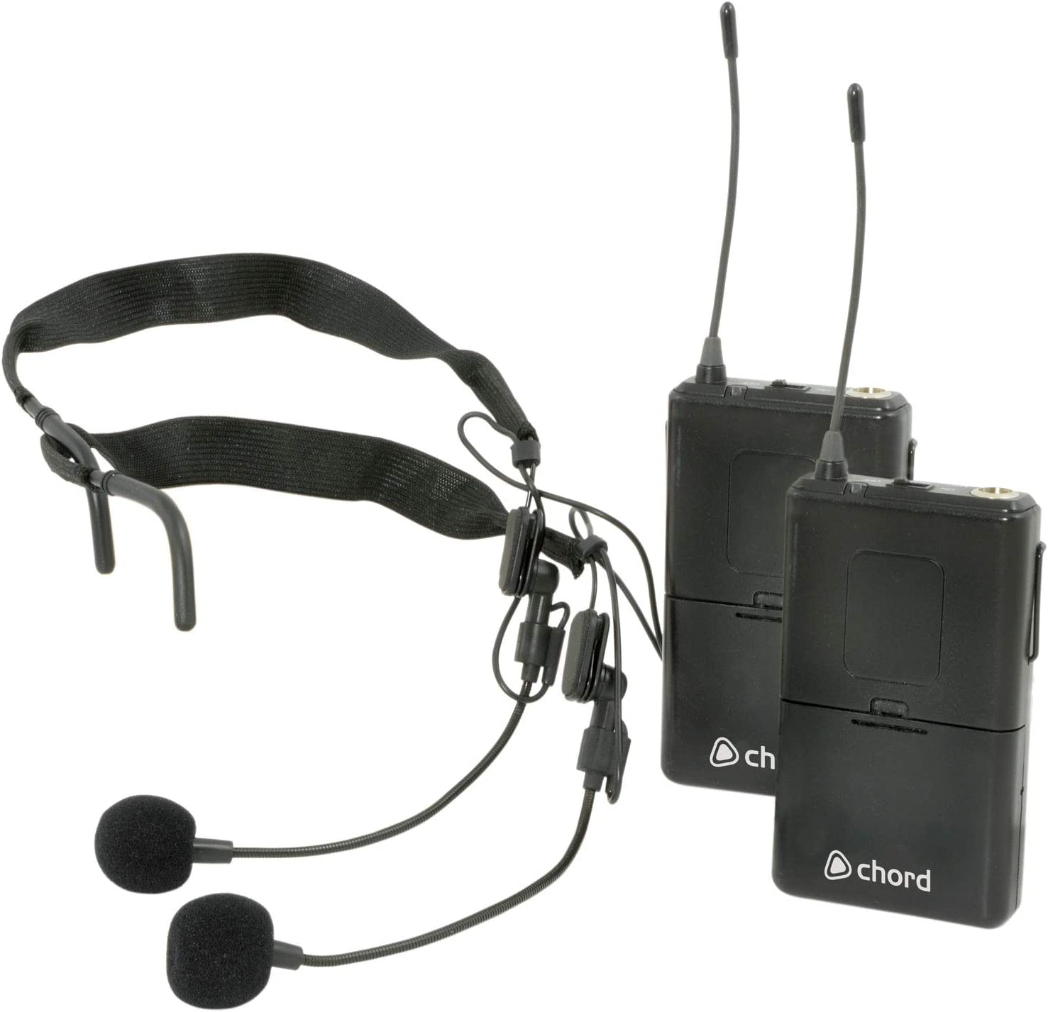 UHF 863.8MHz Wireless Microphone System Neckband /& Lapel Options 864.8MHz Chord