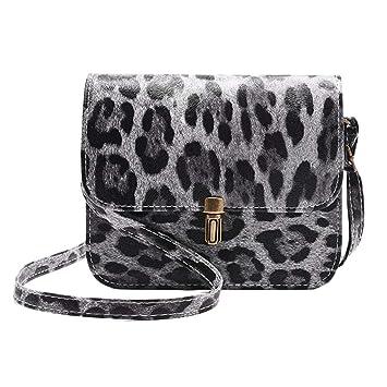 ca125f006449 Amazon.com: Fashion Lady Leopard Leather Shoulder Messenger Bag ...