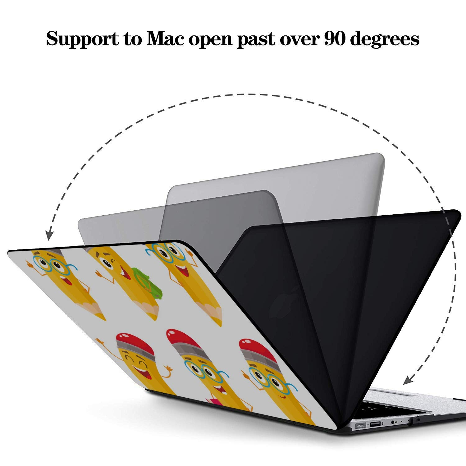 MacBook Pro Hard Cover Colorful Drawing Childish Pencil Plastic Hard Shell Compatible Mac Air 11 Pro 13 15 Mac Pro Case Protection for MacBook 2016-2019 Version
