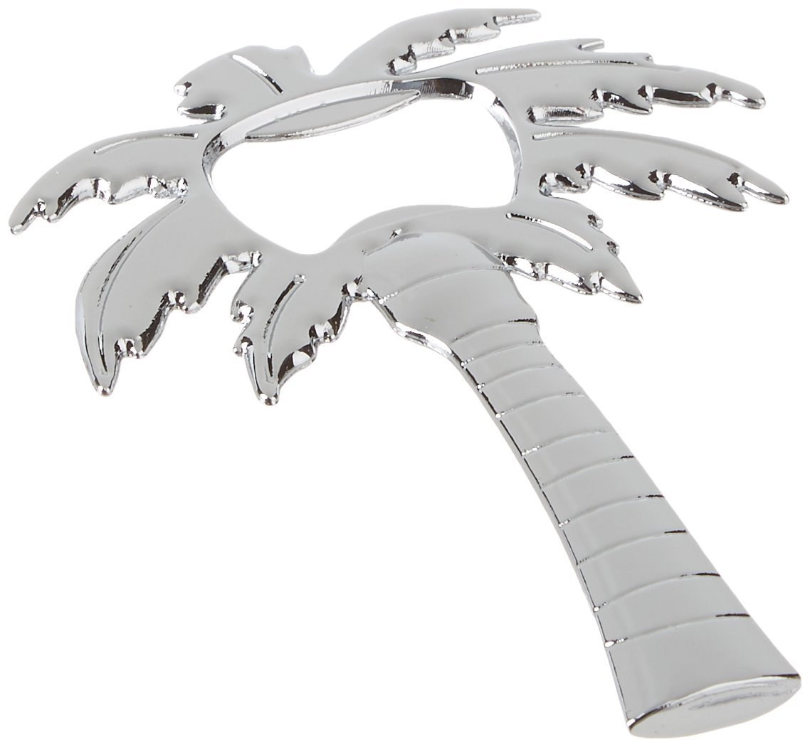 Kate Aspen Palm Breeze Palm Tree Shaped Bottle Opener, Chrome 11125NA