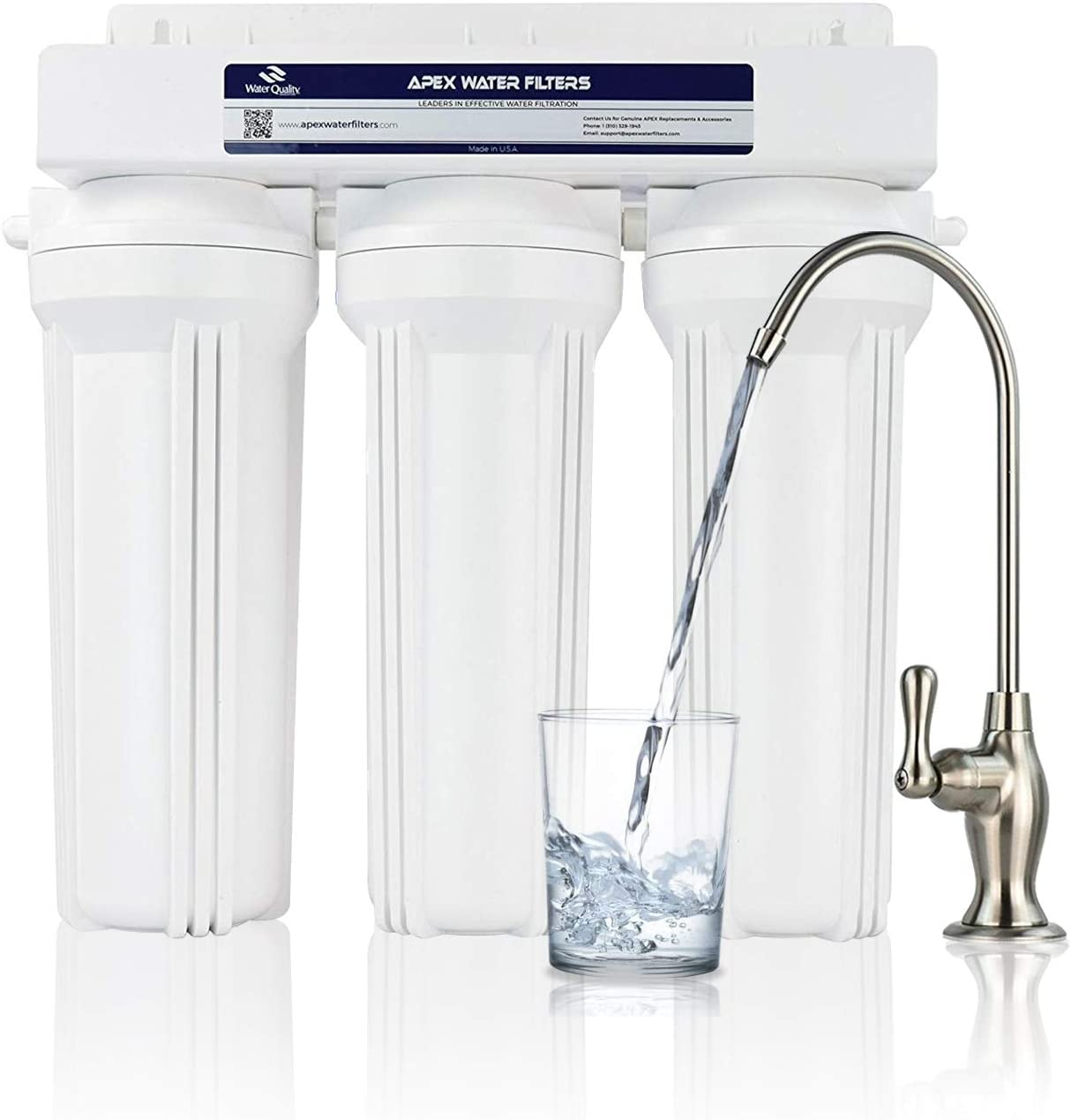 APEX MR-2031 Under the Counter Water Filter System - Lead Removal
