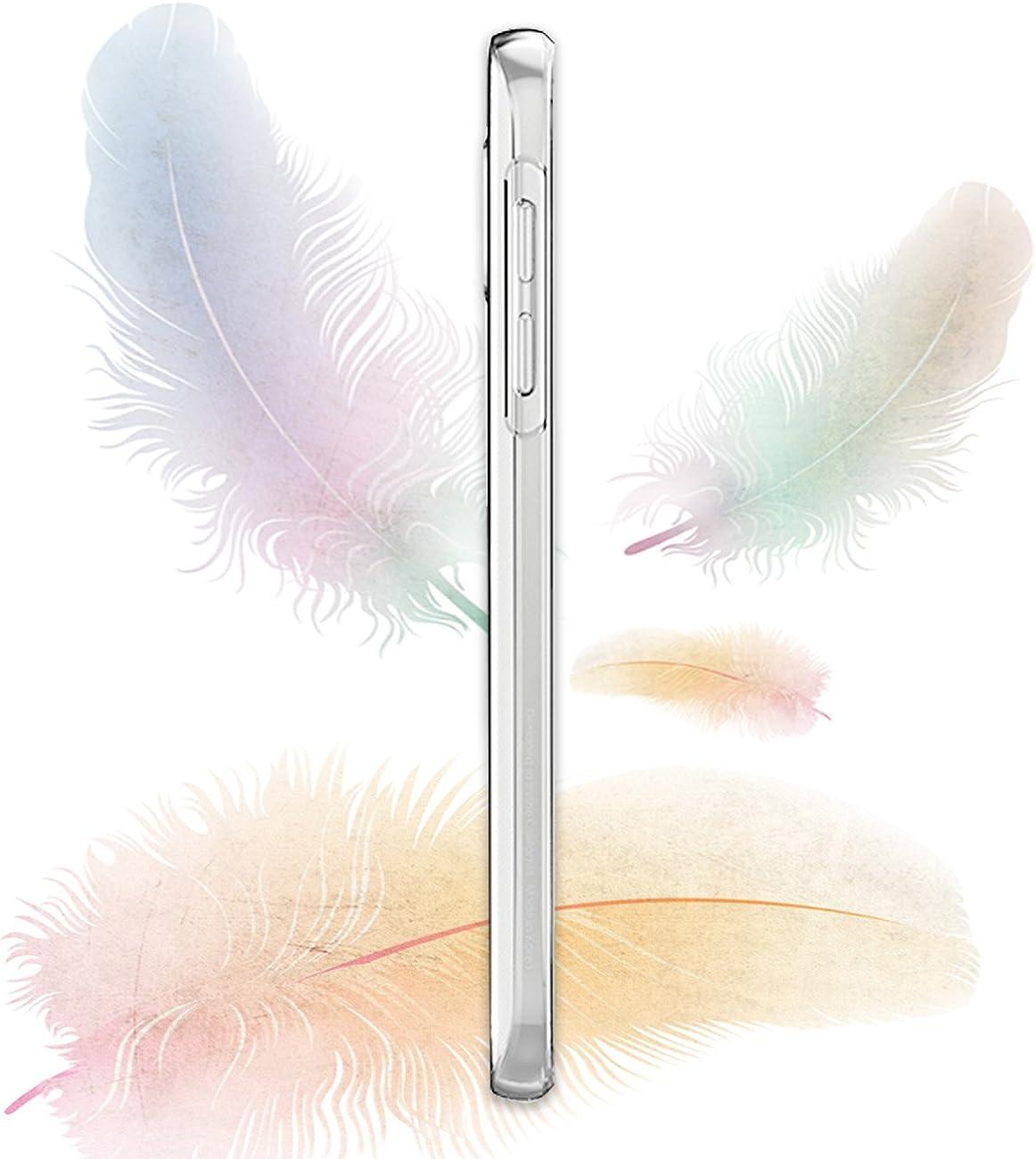 Transparent Anti-/égratignures Case Anti-Scrach Bumper pour S6 Edge Plus Ultra Mince Coque Compatible avec Samsung Galaxy S6 Edge Plus Silicone TPU Souple Housse 360 degr/és Protection