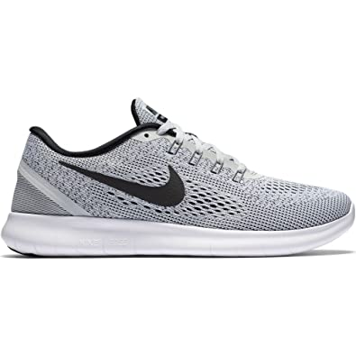 16e4a2fc401bc Nike Free RN Running Shoe - US Women Sizes : 11.5, Couleurs :  White/Black-Pure Platinum
