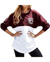 YLnini Womens Casual Crew Neck Letter print Long Sleeve Sweatshirt
