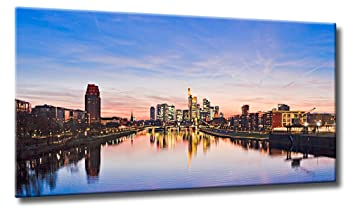 f635b4cc6c553f Fine-Art-Manufaktur Bild auf Leinwand True Color Frankfurt Größe  70cm x  125cm