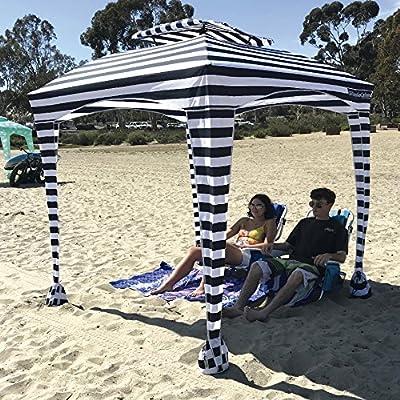 Cabana EasyGo de 6 pies x 6 pies – Cabana de Playa y Deportes te Mantiene Fresco y cómodo. Fácil de Instalar y Quitar. Gran área de Sombra. Más Elegante y más