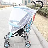 Baby Mosquito Net for Strollers Cradles Portable Baby Stroller Mosquito Net Foldable Bug Net for Strollers Carriers Car 1PC (White)