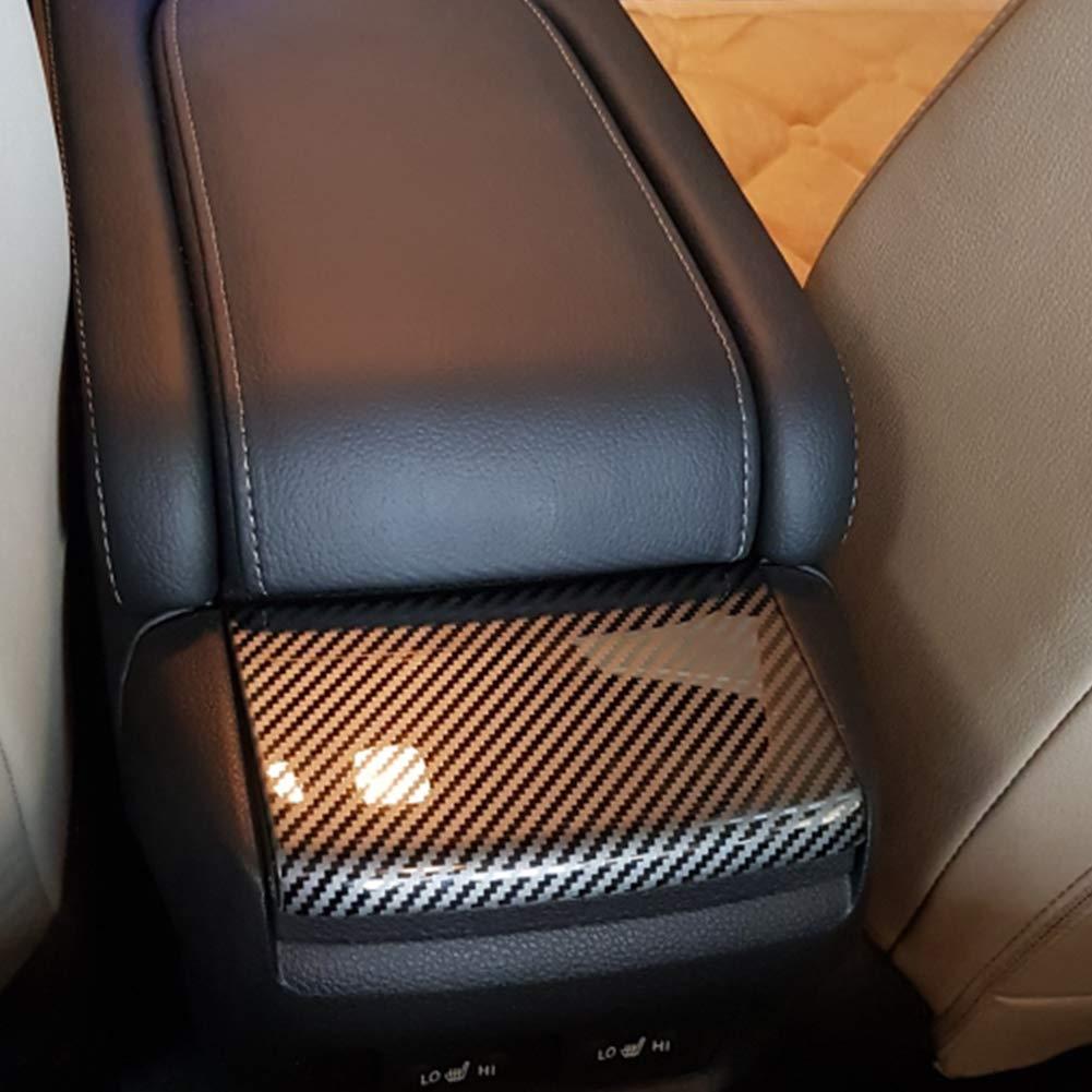 1pcs Car Console Armrest Box Sequins Cover For Honda Civic Carbon Fiber Style Sticker